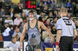 Wrestler Pat Glory '18 is #1 in State, #1 in Country