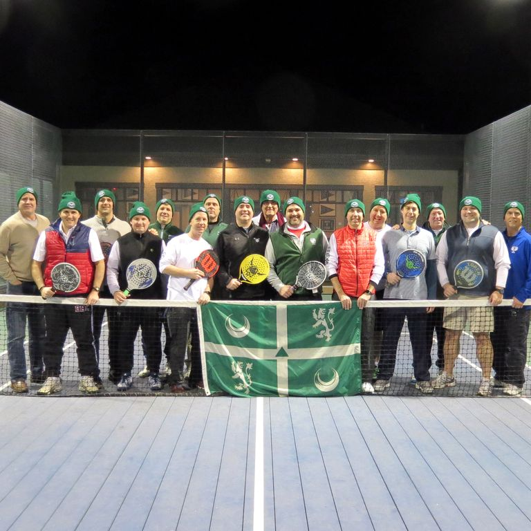 Alumni Compete at Paddle Tennis Event