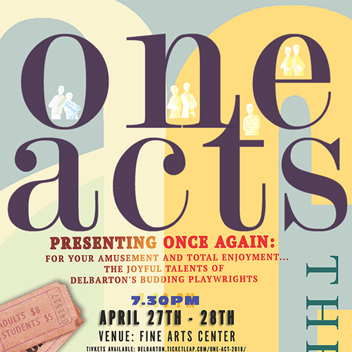Buy Tickets Now for April 27-28 One Act Festival
