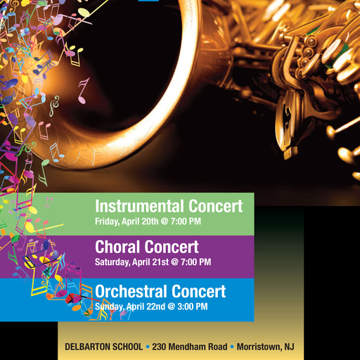 Three Spring Concerts Bloom at Delbarton This Weekend