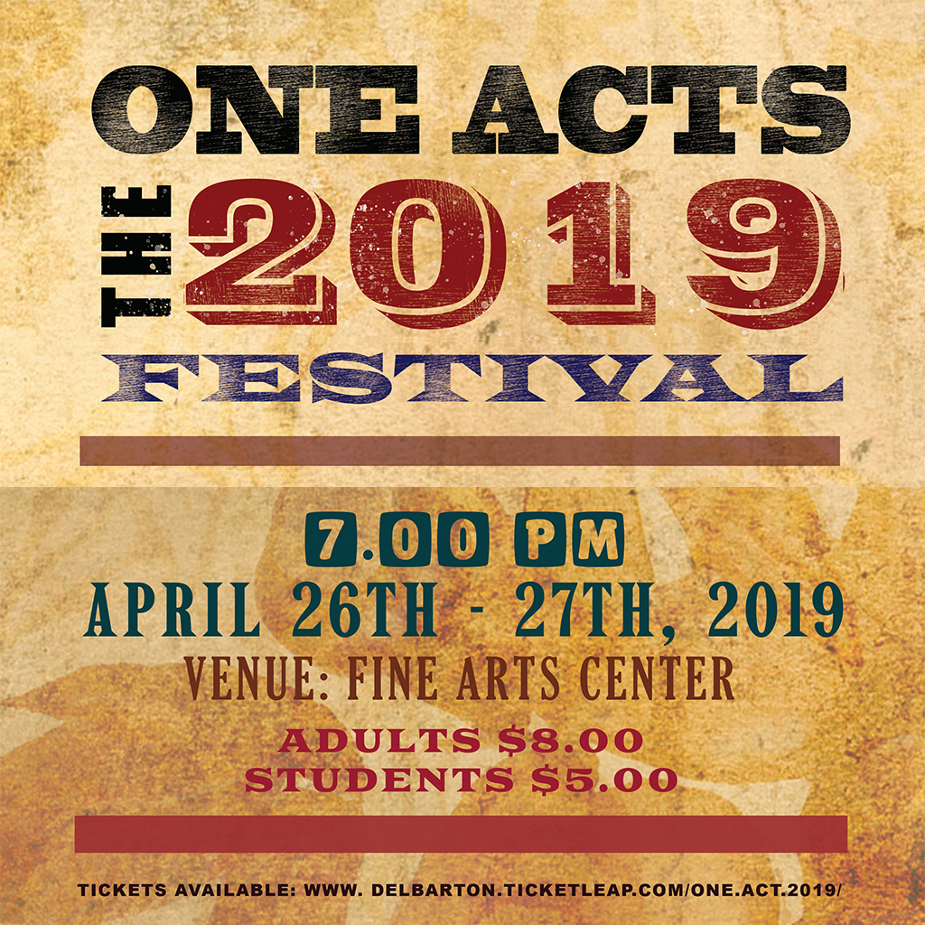 2019 One Act Festival Opens This Weekend