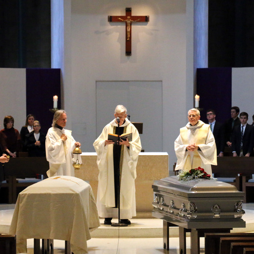 Delbarton and St. Mary's Abbey Offer Funeral Service
